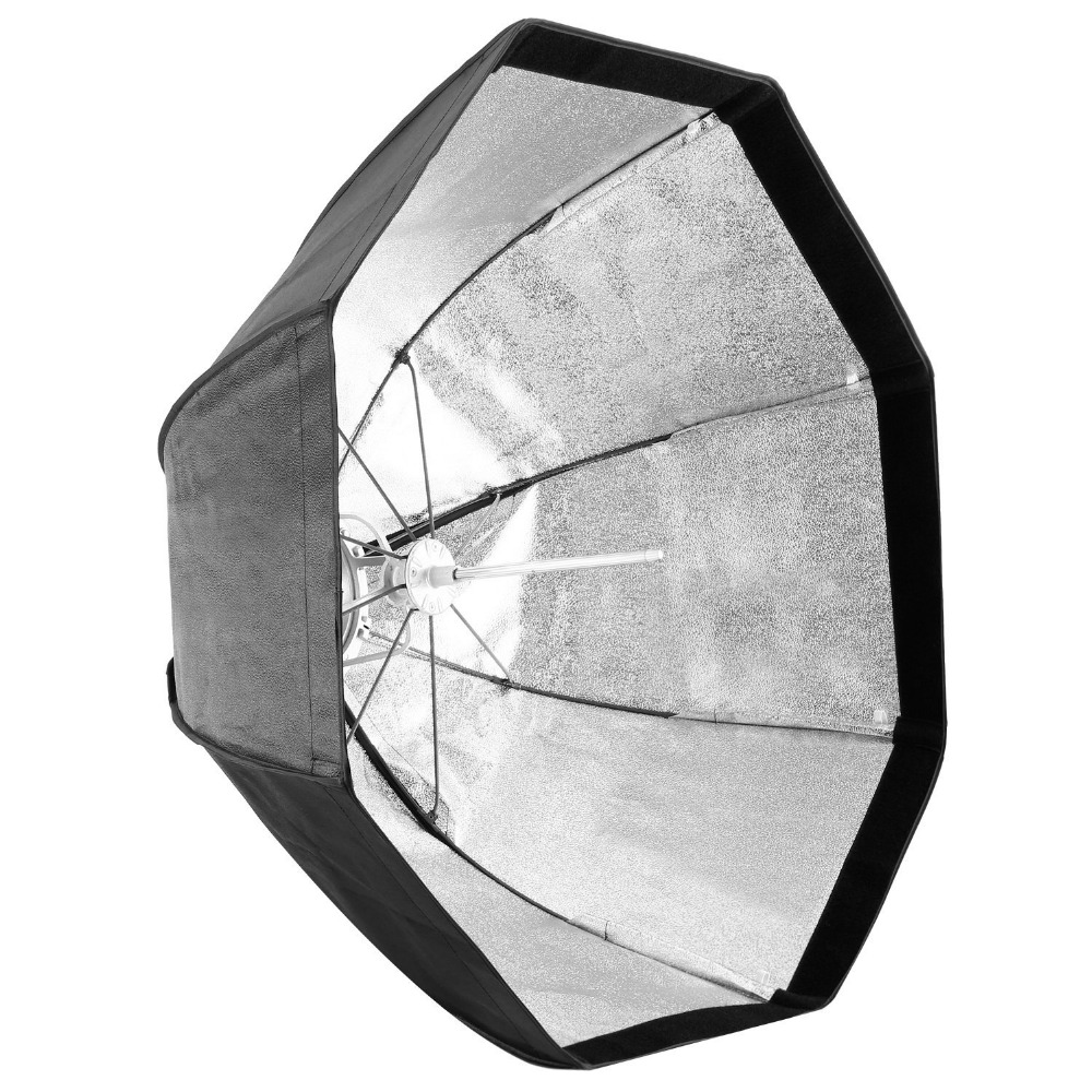 Neewer 31.5 inches/80 CM Umbrella Softbox with Bowens Mount Silver Reflective Interior+Carrying Bag for Yongnuo/Godox Speedlites 80cm speedlight flash reflective octagonal umbrella softbox black white