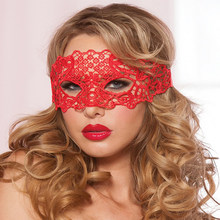 Sexy Babydoll porno Lingerie Sexy noir/blanc/rouge creux dentelle masque exotique érotique Costumes femmes Sexy Lingerie chaude Cosplay masques(China)