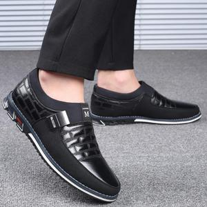 Image 4 - Plus Size 38 46 NEW 2021 Genuine Leather Men Casual Shoes Brand Mens Loafers Moccasins Breathable Slip on Black Driving Shoes