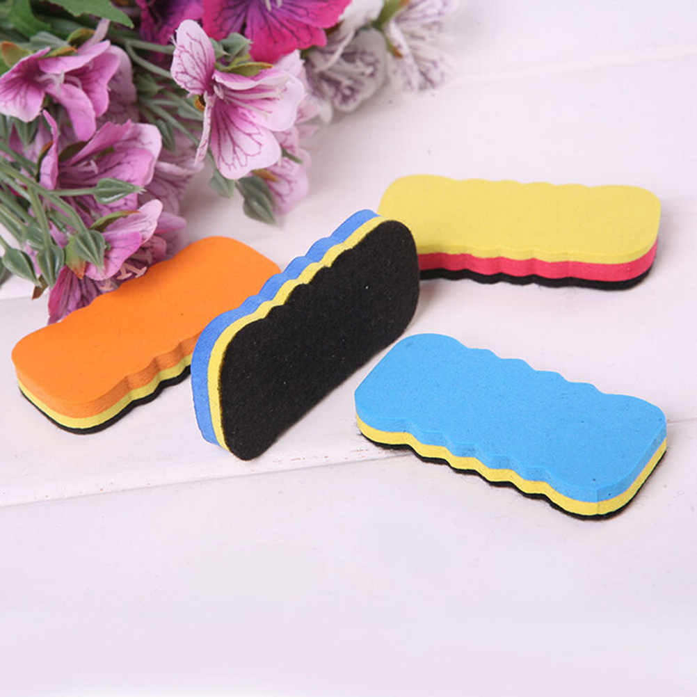 4PCS Cheapest Cute Dry Wipe Marker Cleaner Whiteboard Blackboard Drawing Draft Eraser Office School Supplies