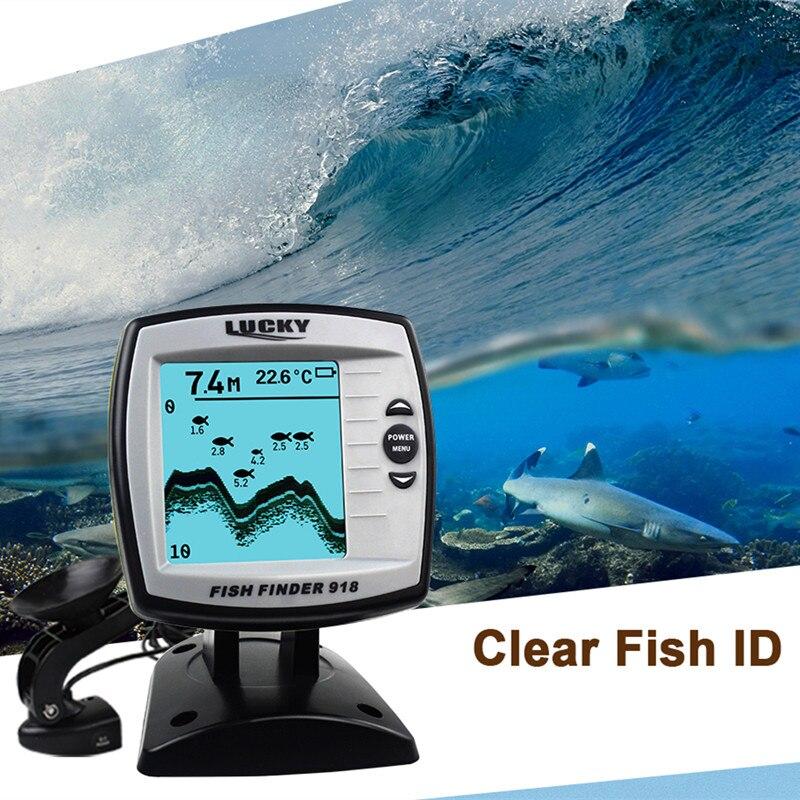 Sonar Fish Finder FF918-180S Wired Echo Sounder Fishing Lure Findfish Boat Alarm Fish Finder 45 degrees RU EN Menu Pesca Probe (9)