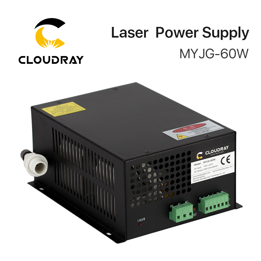 Cloudray 60W CO2 Laser Power Supply for CO2 Laser Engraving Cutting Machine MYJG-60W category co2 laser machine laser path size 1200 600mm 1200 800mm
