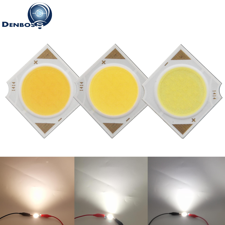 Allcob Manufacturer 14x14mm Square LED COB Light Source Epistar Chip 3W 5W 7W 10W 12W COB LED For Spotlight Bulb Lamp