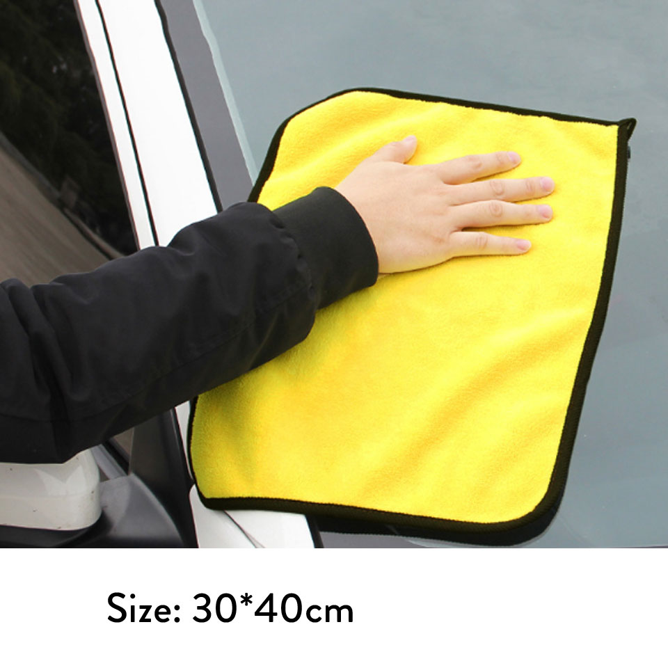 Image 5 - 1pc 30*30/30*40/30*60 Car Wash Towel Microfiber Car Cleaning Drying Cloth Microfiber Washing Drying Towel Strong Thick Plush-in Sponges, Cloths & Brushes from Automobiles & Motorcycles