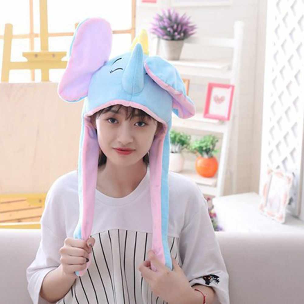 2019 новый плюшевый движущийся кролик танцующий ушной головной убор мультфильм Животные заячьи ушки ушибки для перемещения вертикально плюшевые игрушки, забавные шляпы * 40