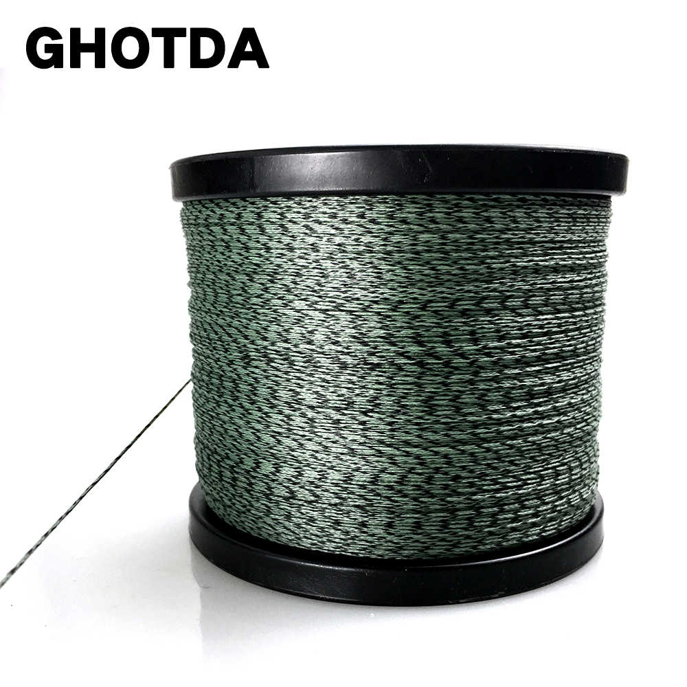 GHOTDA הסוואה 1000M 500M 300M 100M PE קלועה דיג קו Multifilament דיג קו