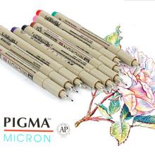 Japan Sakura Fineliner Micron Drawing Pen Colorful Needle Pen Manga Design Sketch Liner Watercolor Art Supplies XSDK01 cheap Single Art Marker Loose XSDK01 XSDK05