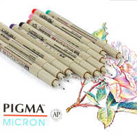 Japan Sakura Fineliner Micron Drawing Pen Colorful Needle Pen Manga Design Sketch Liner Watercolor Art Supplies XSDK01