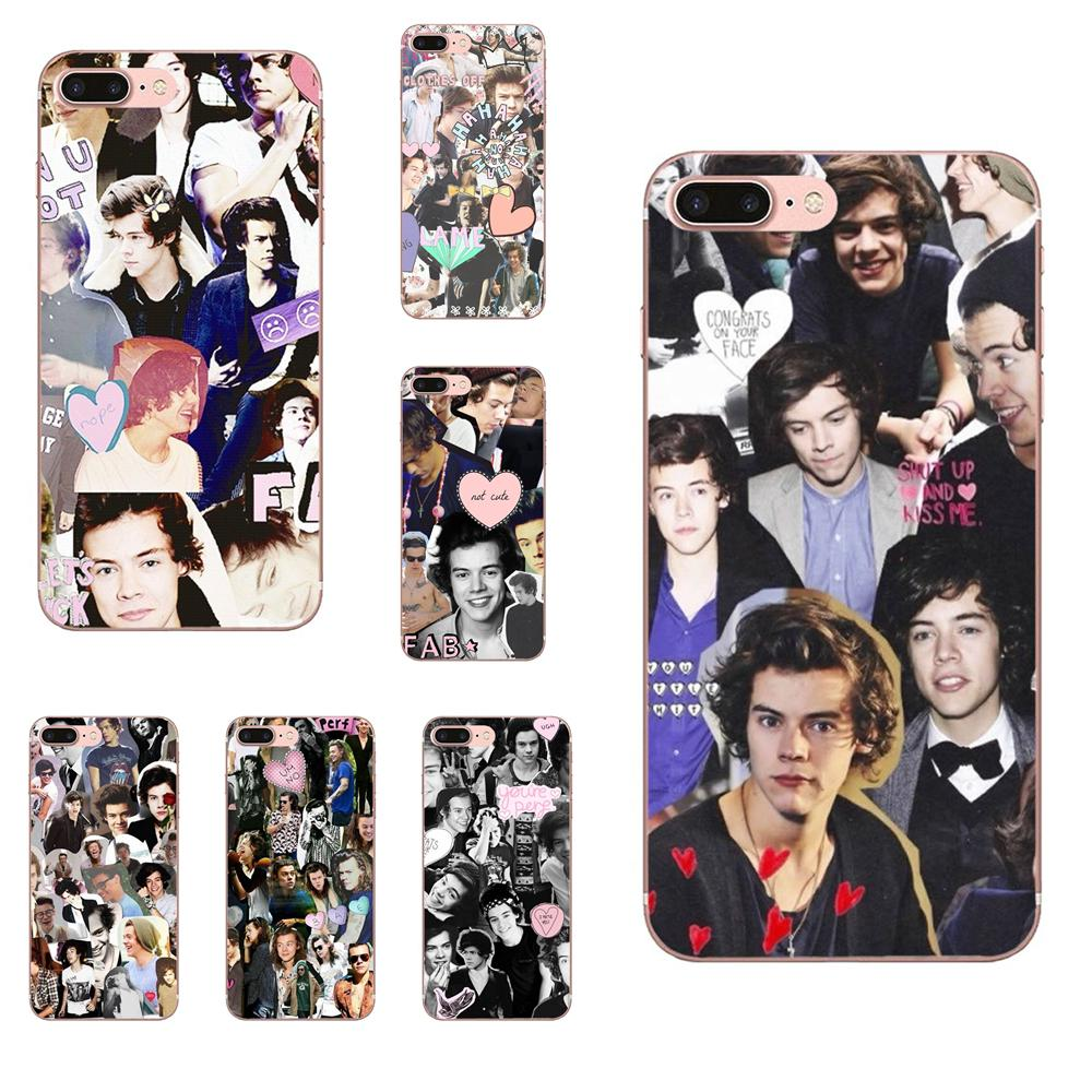 <font><b>Harry</b></font> <font><b>Styles</b></font> Collage Soft TPU Fashion Cell <font><b>Phone</b></font> <font><b>Case</b></font> For <font><b>Samsung</b></font> Galaxy Note 5 8 9 S3 S4 <font><b>S5</b></font> S6 S7 S8 S9 S10 mini Edge Plus Lite image