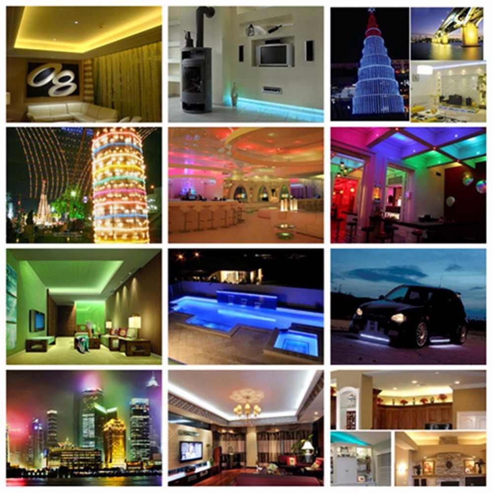 Wodoodporna 5 m 5050 taśma LED SMD światła RGB CCT RGBW RGBWW 12 V 24 V 60 diod led/M Fiexble pasek LED taśmy dekoracji liny pasek lampa