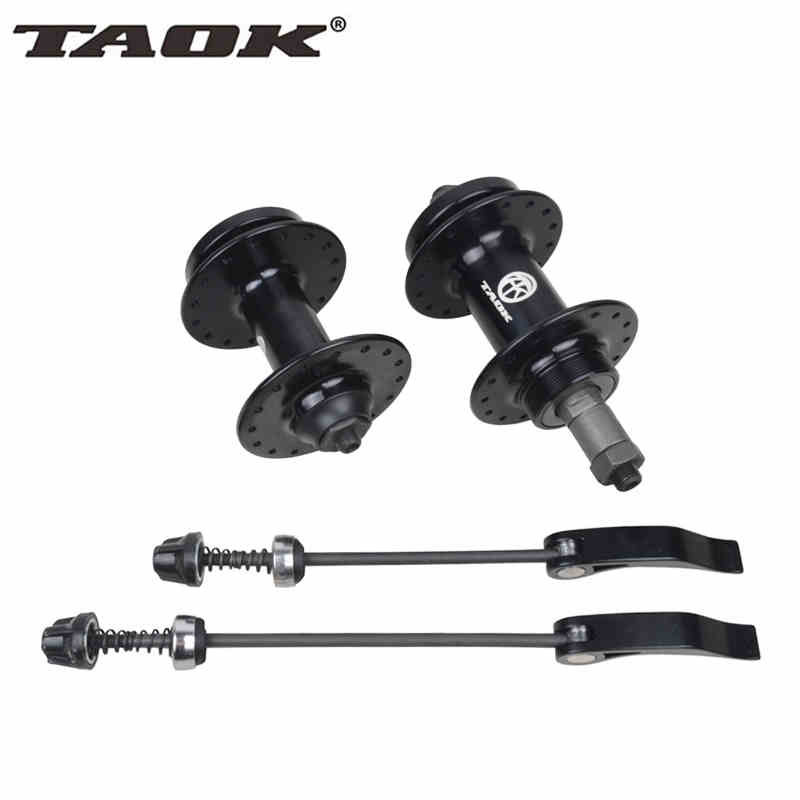где купить TAOK Quick Release Bike Hub 32 36 Holes Mountain MTB Front Rear Hub Gold Bicycle Parts Disc Brake Beard Hubs Rotodyne hub дешево