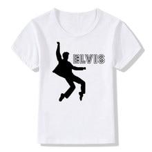 Elvis Print T-Shirt Boys Girls Toddlers Kids