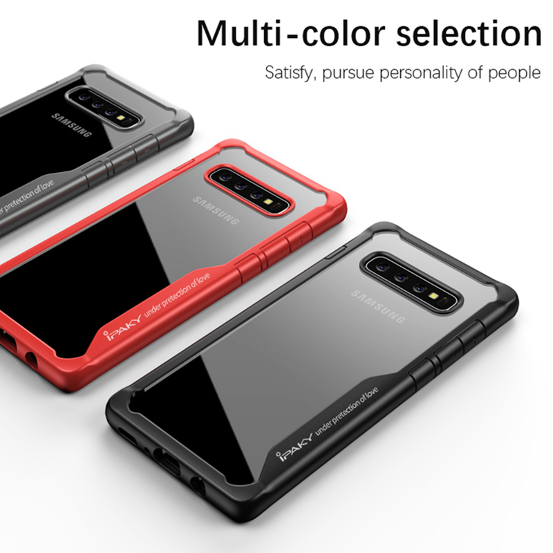 IPAKY Shockproof Silicone S10 Case Luxury Soft TPU Protection Frame Coque For Samsung Plus E Transparent Cover