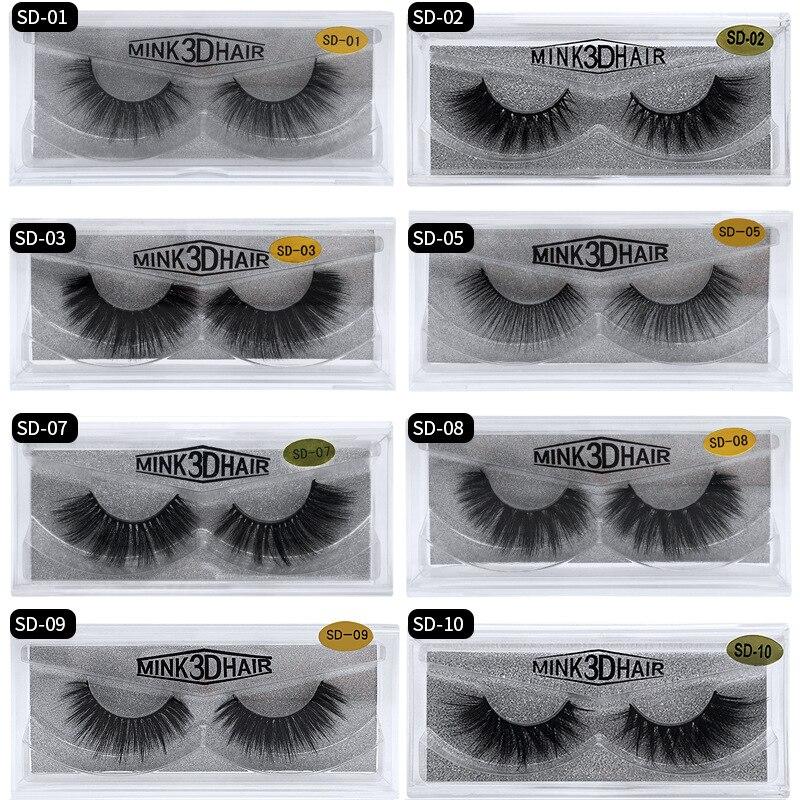 Eldridge Fake Lashes 1Pair 3D Mink Eyelashes Luxury HandMade Cilios Long Lasting Volume Lash Extension Reusable