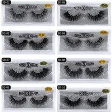Eldridge Fake eyelashes 1Pair 3D Mink Eyelashes Hand Made Cilios Long Lasting Volume Lashes Extension Reusable