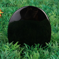 KiWarm 5 5cm 7 3cm Large Black Obsidian Scrying Mirror Crystal Gemstone Healing Stone Feng Shui