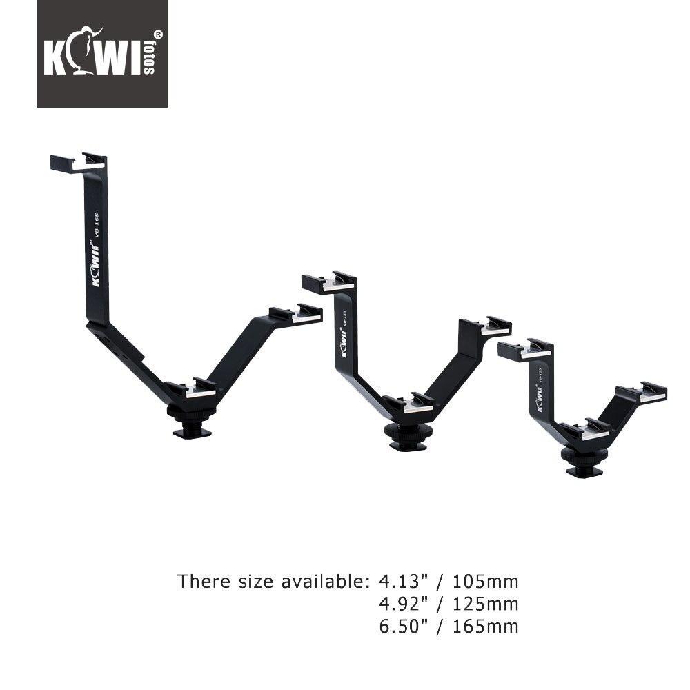 KIWI Triple Cámara adaptador de montaje de zapata fría para Canon/Nikon/Olympus/Sony micrófono LED luz Video Monitor tornillo DSLR Hotshoe