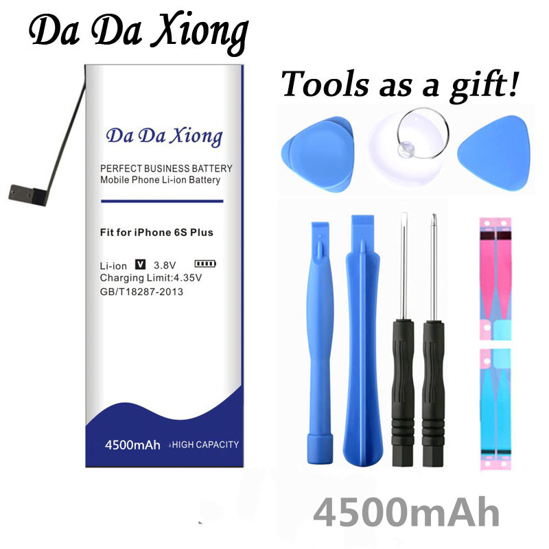 Da Da Xiong 4500mAh Battery For Apple iPhone 6S Plus for iphone6S Plus battery +Free Tools-in Mobile Phone Batteries from Cellphones & Telecommunications