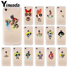 Yinuoda The Powerpuff Girls Soft Silicone TPU Phone Cover for Apple iPhone 8 7 6 6S Plus X XS MAX 5 5S SE XR Cellphones