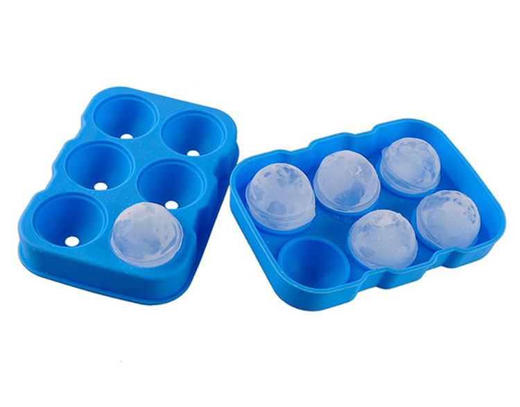1Pc 6 Holes Silicone Ice Cube Tray Big Round Shaped Ice Cube Mold Bar Whiskey Ice Ball Maker Kitchen Silicone Ice Cream Tools (3)