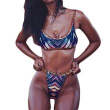 2017 Sexy Retro Thong Bikini Brazilian Push Up Bikini Swimming Suit Micro High Waist Swimsuit Biquini Bandeau Swim Bathing Suit