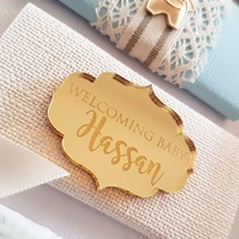 12 pieces Personalized Chocolate Bars Favors Name Silver / Gold Mirror Baby Shower Decor Baptism Favor Decorations