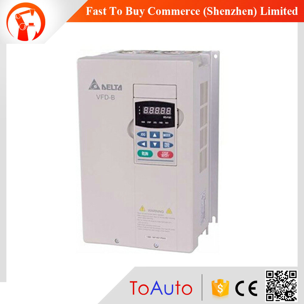 Original new VFD007B43A Delta 3 phase 380v medium voltage vfd 750w 50/60Hz vfd inverter 0.75kw frequency inverter vfd110cp43b 21 delta vfd cp2000 vfd inverter frequency converter 11kw 15hp 3ph ac380 480v 600hz fan and water pump