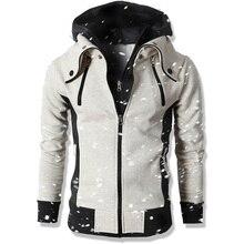 FANTUOSHI 2018 Men Casual Sportswear Male Hoody Zipper Long Sleeve Sweatshirt Jacket