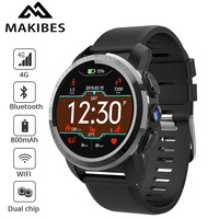 NEW Makibes M3 4G MT6739 Dual chip Waterproof Smart Watch Phone Android 7.1 8MP Camera GPS 800mAh Answer call SIM TF Smartwatch