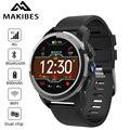 Nuevo Makibes M3 4G MT6739 Dual chip impermeable reloj inteligente teléfono Android 7,1 8MP Cámara GPS 800 mAh respuesta llamada SIM TF Smartwatch