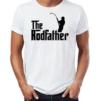 The Rodfather - Mens Funny Fisher T-Shirt Rod Reel Fisherman Tackle Carp Trout Men'S T Shirts Short Sleeve O-Neck Cotton