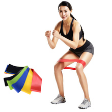 50cm Pilates Resistance Band Home Fitness Rubber Loop Tension Crossfit Gym Strength Loops Sports Workout Pull Up Latex Exercise