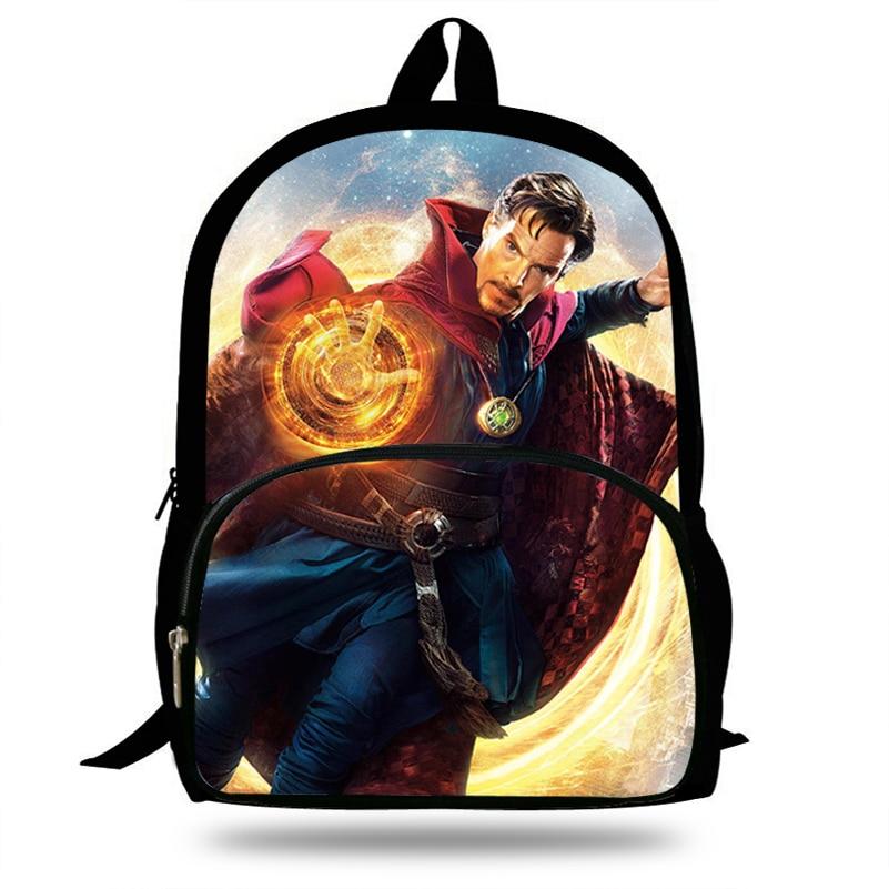100% Wahr 16 Zoll Beliebte Arzt Seltsame Rucksack Für Teengers Superhero Schultasche Für Mädchen Jungen Kinder Elegant Im Geruch