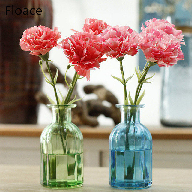 11pc/lot Artificial carnation flowers Stamen silk flower bouquet for ...