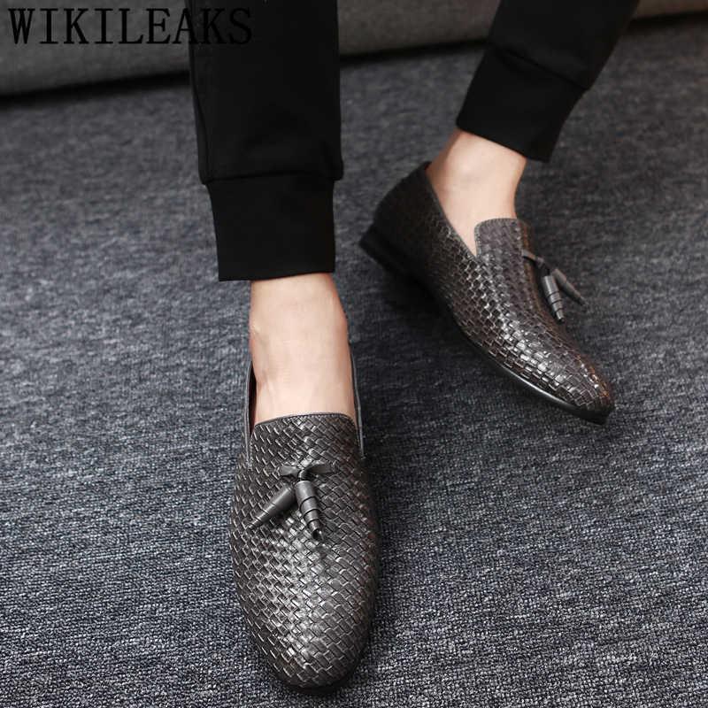 อังกฤษรองเท้าผู้ชายรองเท้าอย่างเป็นทางการ loafers ผู้ชายรองเท้า coiffeur รองเท้าหนังผู้ชาย classic ชุดแต่งงานสีดำ sepatu slip on pria