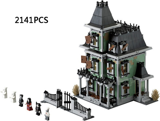 2141PCS Classic monster warrior Haunted House building block Dracula Vampire Frankenstein Standard brick size compatible 10288