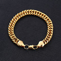New style Fashion Jewelry Male Charm Gold Plated Luxury Men Crude Locks Bracelets & Bangles for Mens Best Gift For A Friend