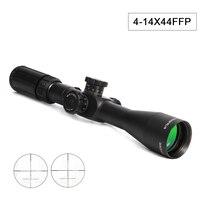 4 14X44FFP оптический охотничий прицел первая фокальная плоскость стеклянный охотничий прицел с красным зеленым светом для снайперской страйк