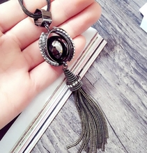 2016 New Women New Fashion All-match Sweater Chain Necklace Tassel Sweater Long Cross Pendant Necklace Accessories