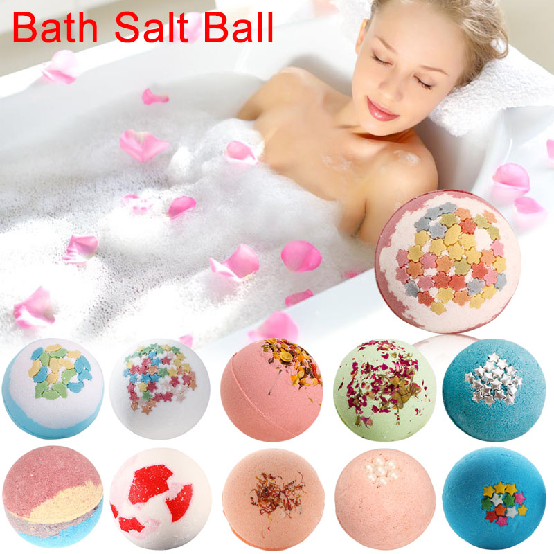 100g/pcs Deep Sea Bath Salt Body Essential Oil Fragrance Bath Ball Natural Bubble Bombs Ball Household Skin Care Bath Salt Ball