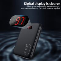 Usams Power Bank for xiaomi Samsung iPhone Huawei USAMS Mini Pover Bank 10000mAh LED Display Powerbank External Battery Poverbank Fast charging