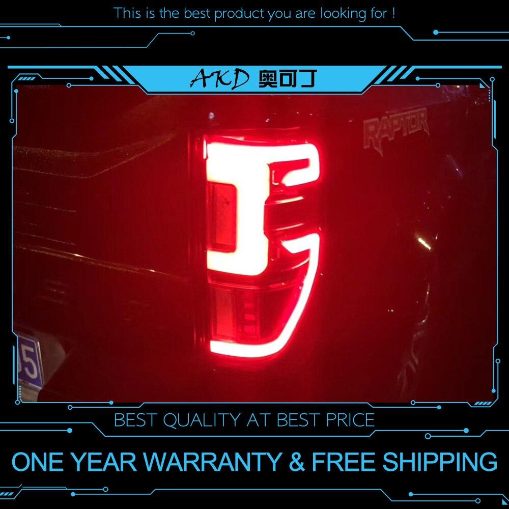 AKD Тюнинг автомобилей задние фонари для Ford Ranger 2016 2018 задние фонари светодио дный светодиодные DRL ходовые огни Противотуманные фары ангельск