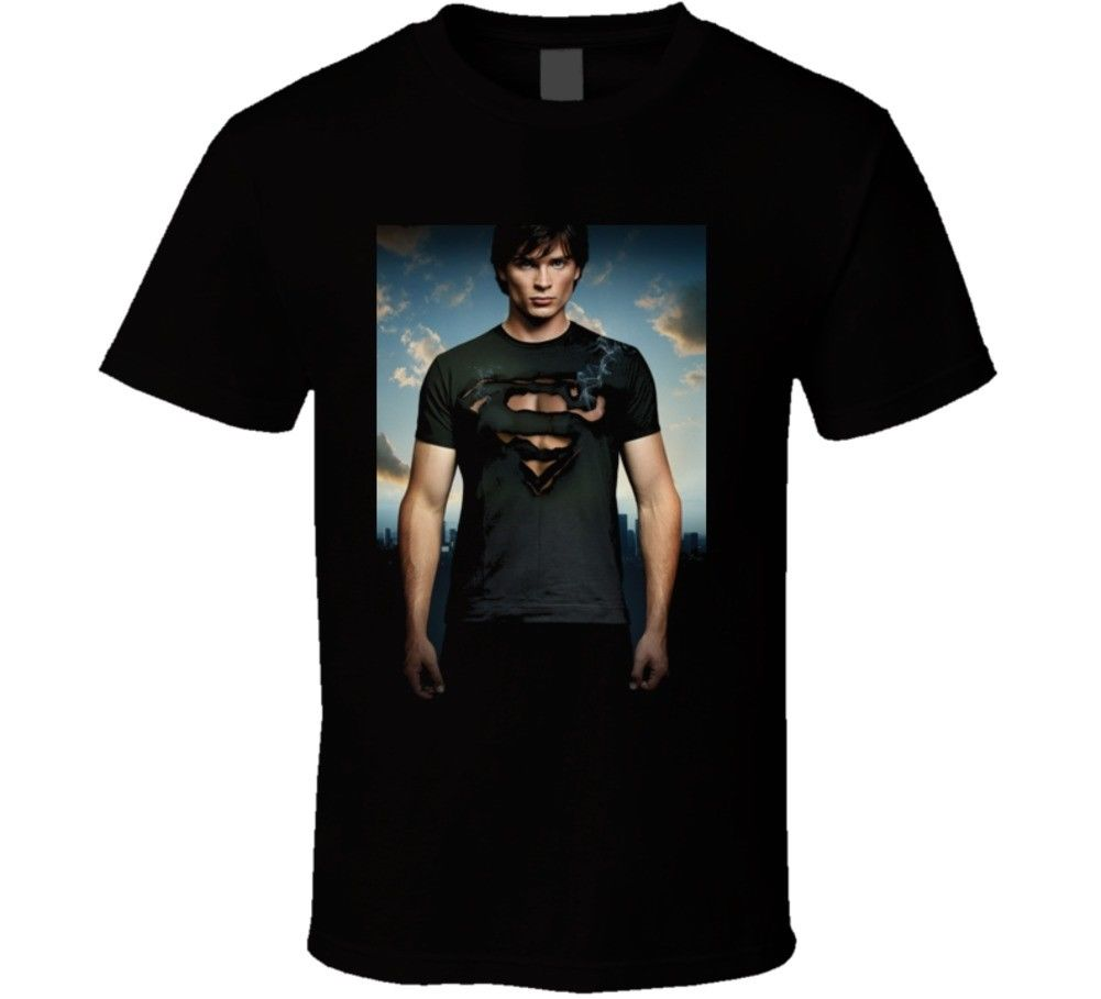 Smallville Burning Shirt T Shirt T Shirts Man Clothing Free Shipping top tee MenS Funny Harajuku T shirt top tee