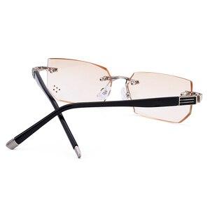 Image 4 - Ultra leve óculos de leitura sem aro dos homens anti azul ray marca designer amarelo computador lupas + 1.5 2.0 2.5