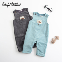 Colorful Childhood Autumn New Baby Girl and Boy Bib Pants Coverall Trousers Cartoon Bears Infant Clothes 0 1 2 years old