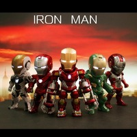 Spot 5 unids/set Luz y Función de Acción Iron Man Iron Man MK 5 33 35 37 39 de Colección Modelo Juguetes de regalo de Navidad Del Envío gratis