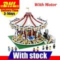 With Motor Clone 10196 LEPIN 15013 3263Pcs City Creator Expert Grand Carousel Model Building Kits Set Blocks Brick Toy