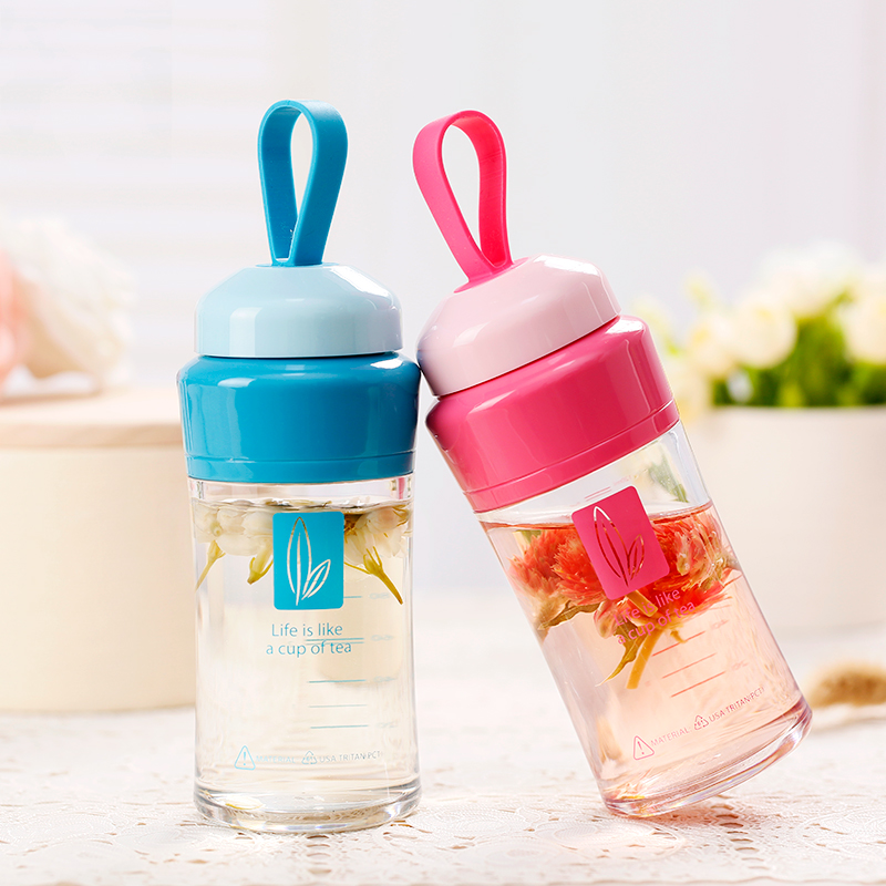 UZSPACE MINI Water Bottle Girl Tritan Cute Outdoor Travel Sport Tea Portable My Drink Bottle for Water BPA Free with Rope filter|Water Bottles|   - AliExpress