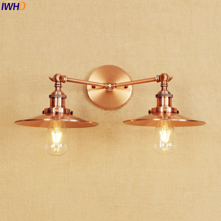 IWHD Antique Edison LED Wall Light Fixtures Home Indoor Lighting Adjustable Arm Industrial Vintage Wall Lamp Sconce Wandlamp iwhd loft style creative retro wheels droplight edison industrial vintage pendant light fixtures iron led hanging lamp lighting