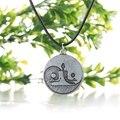 Taichi yin yang colar pingente yoga meditação charme poder espiritual colares presente para as mulheres pingente de prata antigo